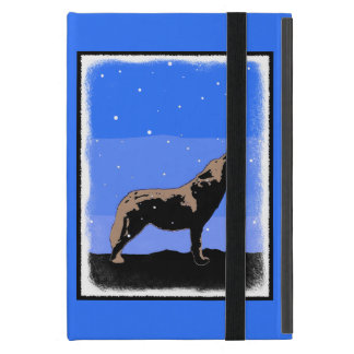 Howling Wolf in Winter iPad Mini Cover