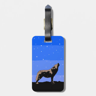 Howling Wolf in Winter Luggage Tag