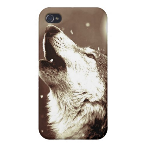 Howling Wolf iPhone 4/4S Cover