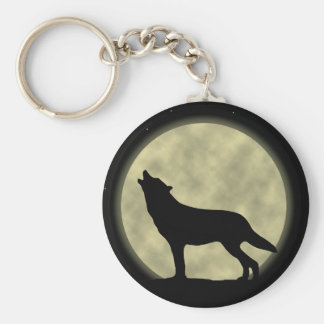 Howling Wolf Key Ring