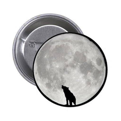 Howling Wolf Moon Pin