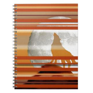 Howling Wolf Spiral Notebook