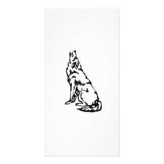 Howling Wolf Picture Card