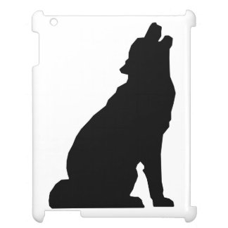 Howling Wolf Silhouette Cover For The iPad