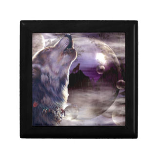 Howling Wolf Small Square Gift Box