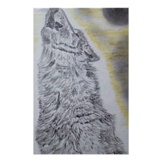 Howling Wolf Stationery Paper