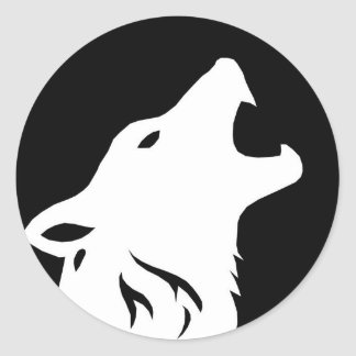 Howling Wolf Stickers