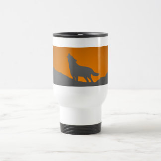 Howling wolf travel mug