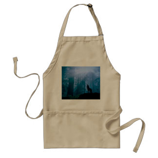 Howling wolf - wild wolf - forest wolf standard apron