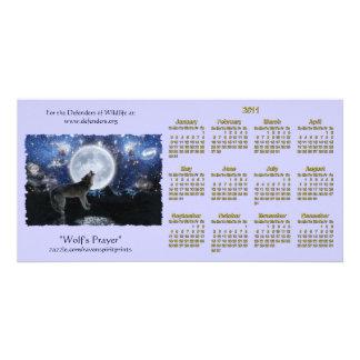 Howling Wolf Wildlife 2011 Pocket Calendars Personalised Photo Card