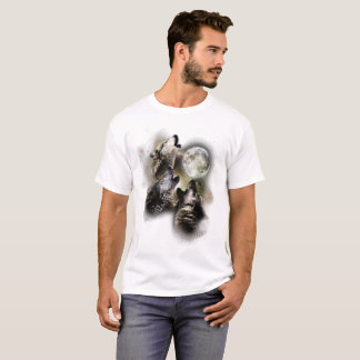Howling Wolves at the Moon T-Shirt