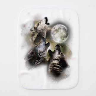 Howling Wolves Moon Burp Cloth