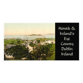 Howth and Ireland's Eye Customized Photo Card