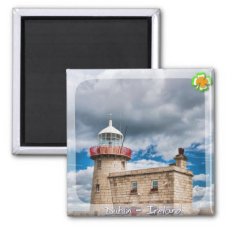 Howth Lighthouse Square Magnet
