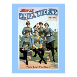 Hoyt's A Milk White Flag Vintage Theater Poster Postcard