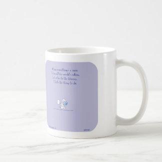 "HP2149 ""Harold's Planet"" mess read library toilet Basic White Mug"