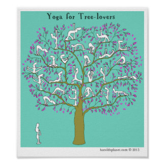 "HP2356 ""Harold's Planet"" ""Yoga for tree-lovers"" Poster"