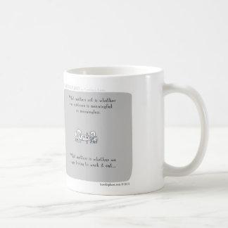 """HP5094 """"Harold's Planet"""" existence meaningful Basic White Mug"""
