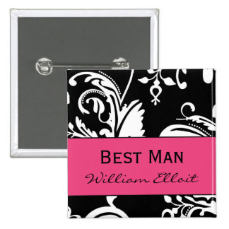 HP&B Best Man Square Button