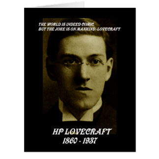 HP LOVECRAFT IN MEMORY BIG GREETING CARD