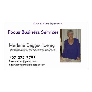 HPIM0353, Focus Business Services, Marlene Bagg... Pack Of Standard Business Cards