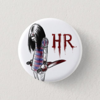 hr 3 cm round badge