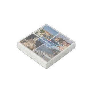 HR Croatia - Dubrovnik - Walls - Medieval fortress Stone Magnet
