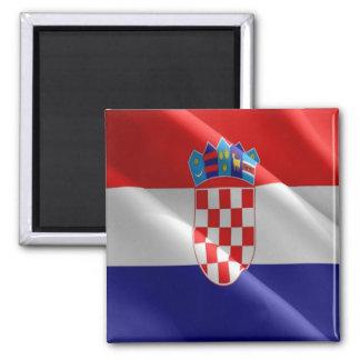 HR - Croatia - Waving Flag - Croatian Magnet