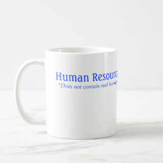 HR does not contain real humans Basic White Mug
