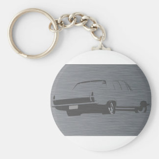 HR Holden Stainless Steel Basic Round Button Key Ring