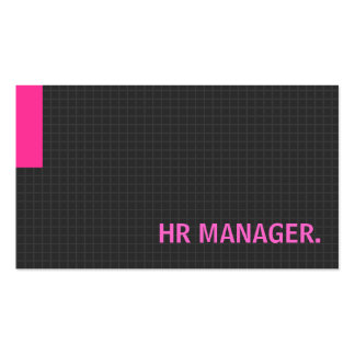 HR Manager- Multiple Purpose Pink Pack Of Standard Business Cards