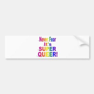 HR Super Queer - Gay.png Bumper Sticker