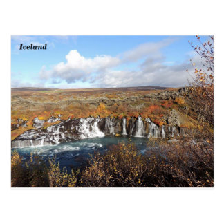 Hraunfossar, Iceland (B) Postcard