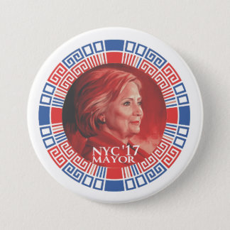 HRC for NYC 2017 7.5 Cm Round Badge