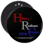 HRC Hillary Rodham Clinton 2016 President Addition Button