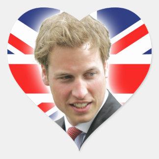 HRH Duke of Cambridge - Stunning! Heart Sticker