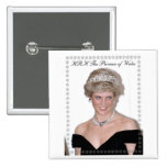 HRH The Princess of Wales Joyeux Noël 15 Cm Square Badge