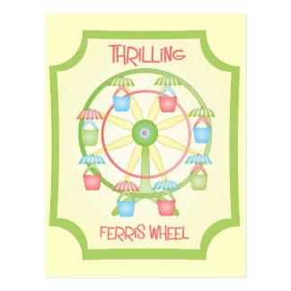 hrilling Ferris Wheel Postcard