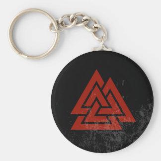 Hrungnir's Heart (red & black grunge) Key Ring