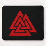 Hrungnir's Heart (red & black) Mouse Pads