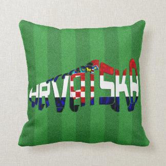 Hrvatska Croatia Soccer Calligram Cushion
