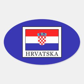 Hrvatska Oval Sticker