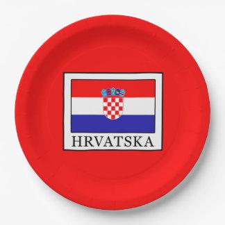 Hrvatska Paper Plate