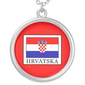 Hrvatska Silver Plated Necklace