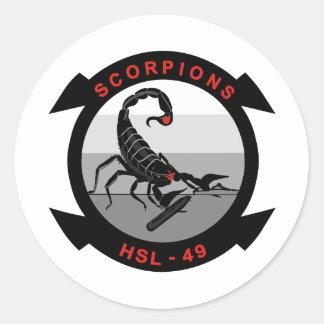 HSL-49 Scorpions Classic Round Sticker