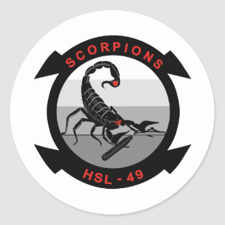 HSL-49 Scorpions Round Sticker