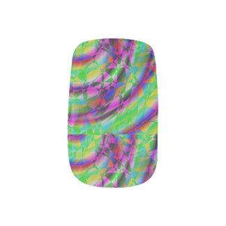 HSV Spiral Candy Fingernail Transfers