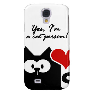 HTC Im a cat person Galaxy S4 Covers