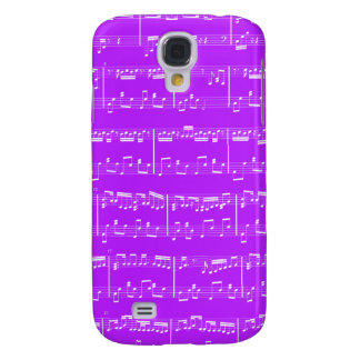 HTC Vivid Sheet Music Purple Samsung Galaxy S4 Cover