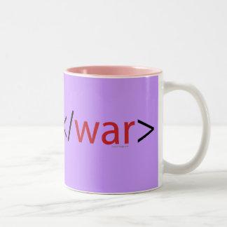 HTML Code End War Mug